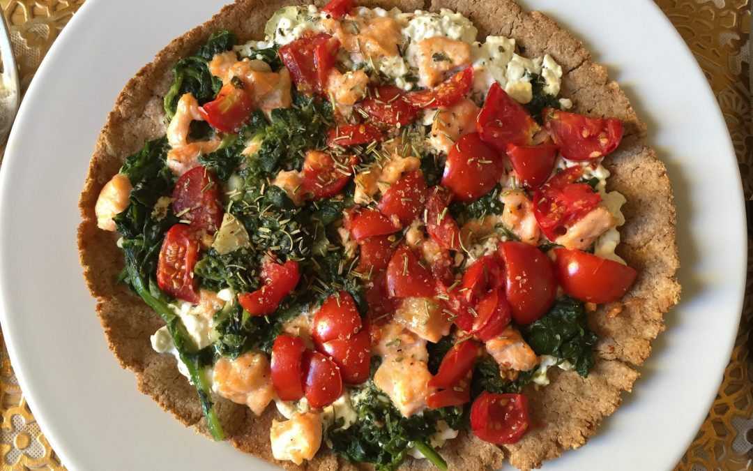 Pizza fit di avena