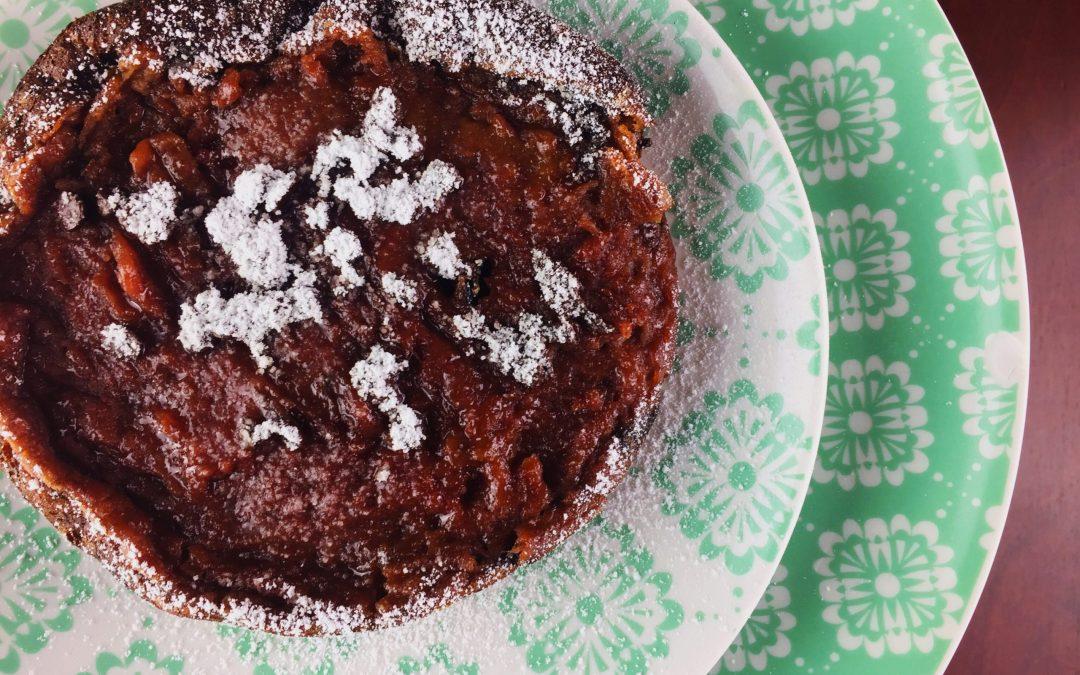 Pancake alla barbabietola e fondente senza lattosio