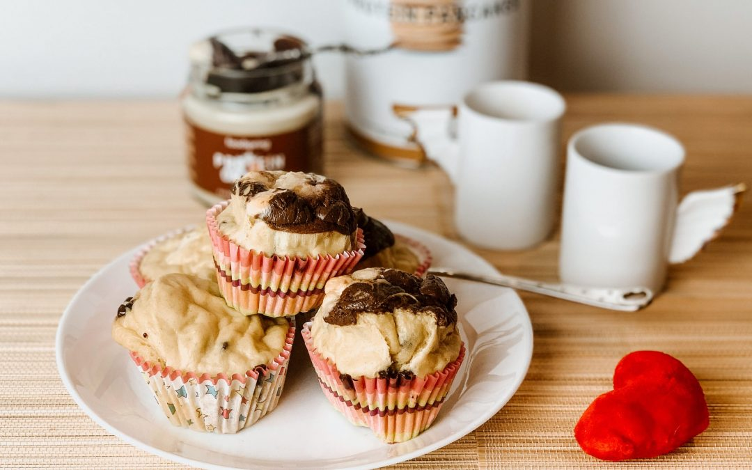 Muffins proteici con cuore di nutella: per un dolce San Valentino