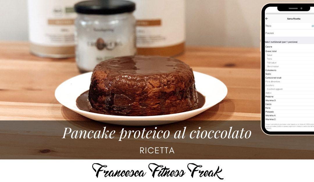 Pancake proteico ricoperto di cioccolato