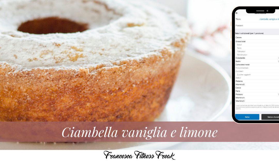 Ciambella soffice vaniglia e limone