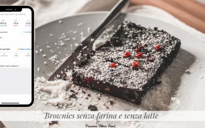 Brownies senza farina e senza latte