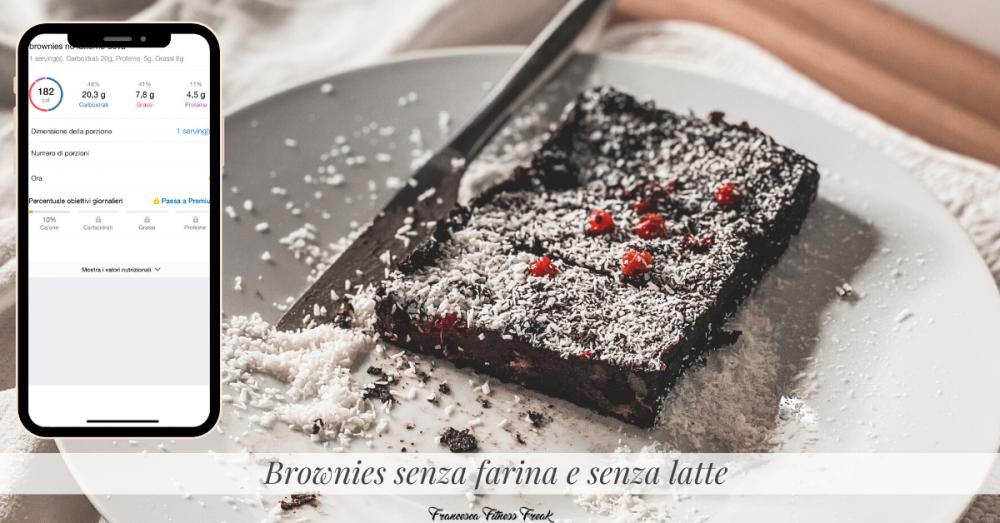 Brownies senza farina