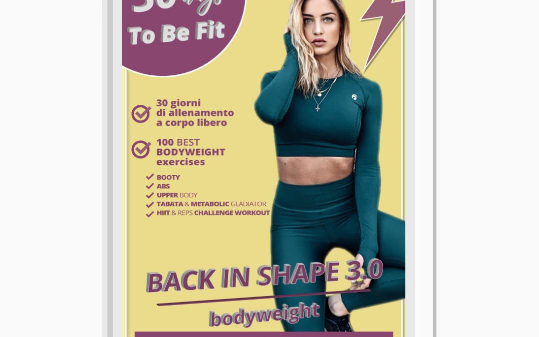 Back In Shape 3.0: guida workout a corpo libero