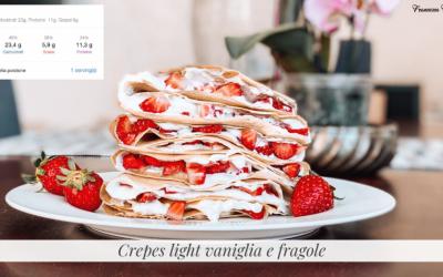 Crepes light vaniglia e fragole